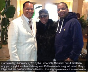 [Photos]  Minister Farrakhan releases photos of Saturday lunch with singer Mary J. Blige