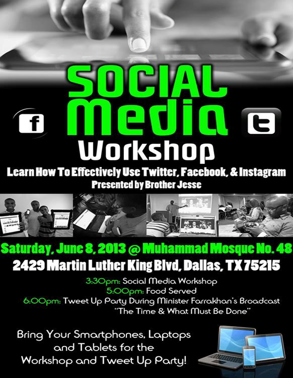 A Successful Dallas-style Social Media Workshop and Live Tweet Up Party w/ Jesse Muhammad