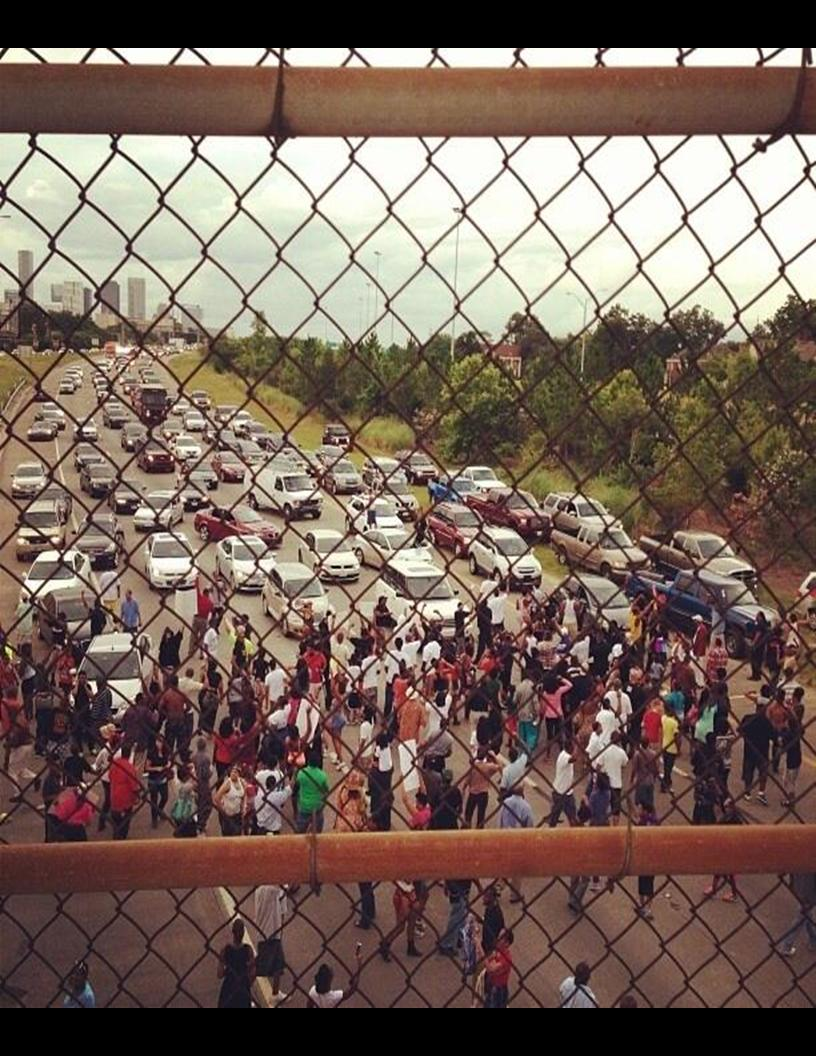 H2H Photos of the Day – Houston 288 Freeway shut down today for Justice For Trayvon rally
