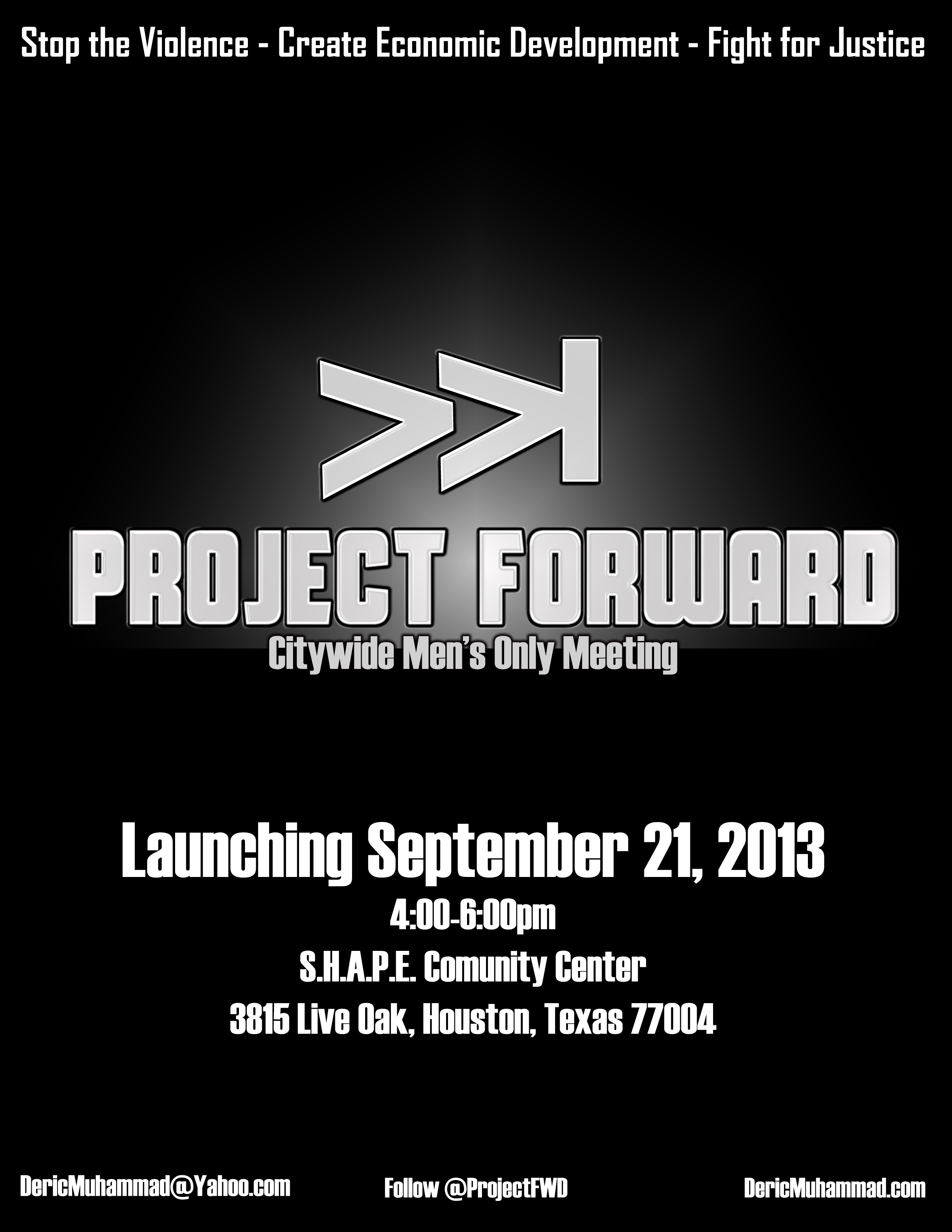 Project Forward: Men's Only Meeting #StopTheViolence