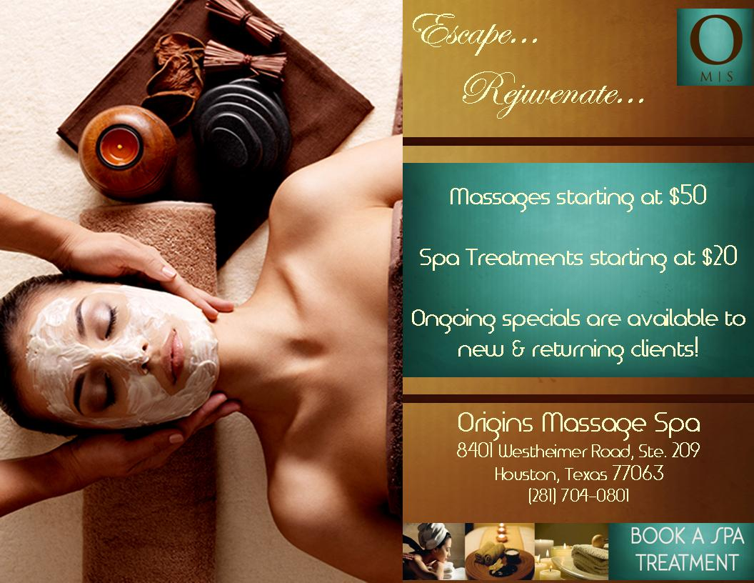 Origins Massage Spa Grand Opening Week!