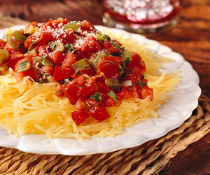 [Recipe] Spaghetti Squash with Tomato Herb Sauce