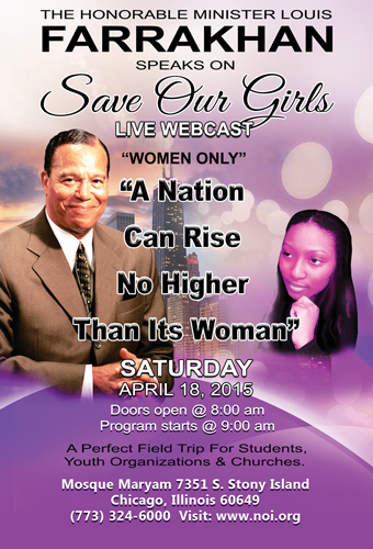 ICYMI: Save Our Girls Full Replay f/ Hon. Minister Louis Farrakhan