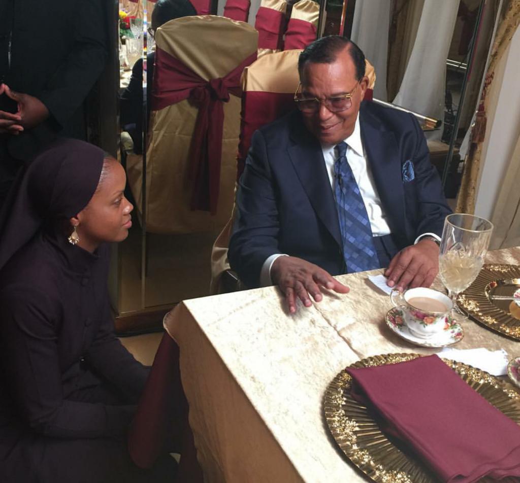 Ayanna Muhammad & Minister Louis Farrakhan