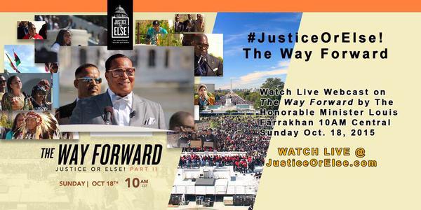 [Live Webcast] Sun. (10/18) at 10am(cst) Minister Louis Farrakhan Speaks! #JusticeOrElse