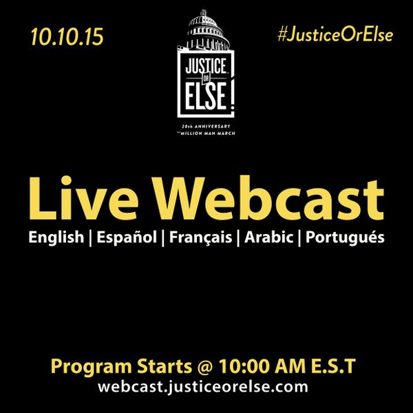 [WATCH] The 10.10.15 program airs live via webcast! #JusticeOrElse
