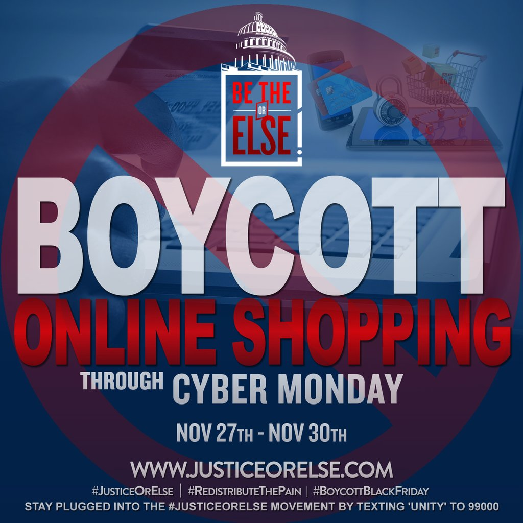 Boycott ALL Online Shopping! #RedistributeThePain