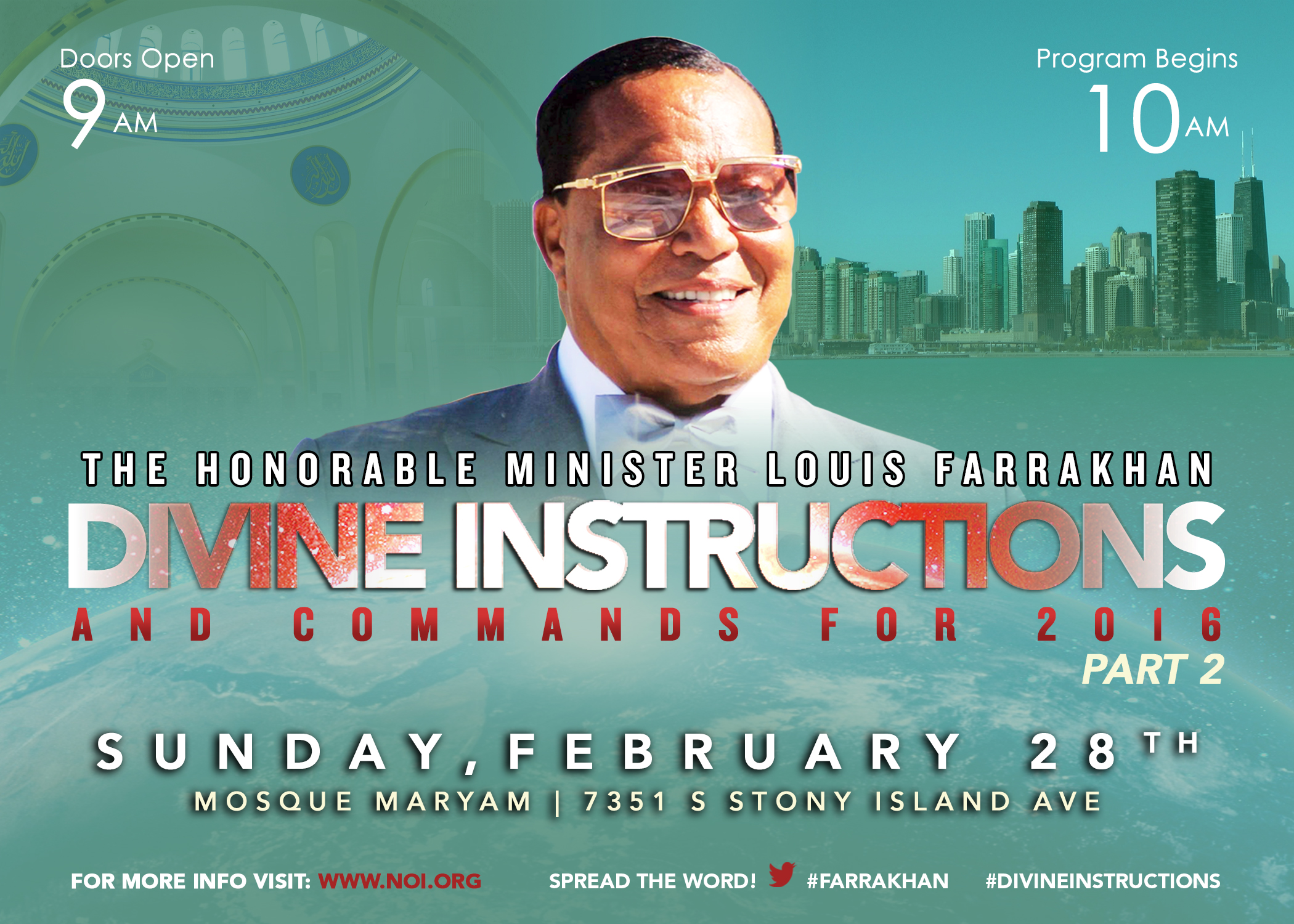 [Full Replay] Part 2: Divine Instructions and Commands for 2016 #Farrakhan