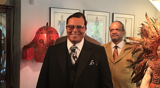 Minister Louis Farrakhan gives an inspiring message to artists