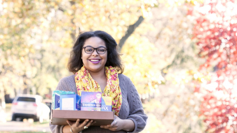 Jesseca Rhymes collects feminine care products for homeless women and girls