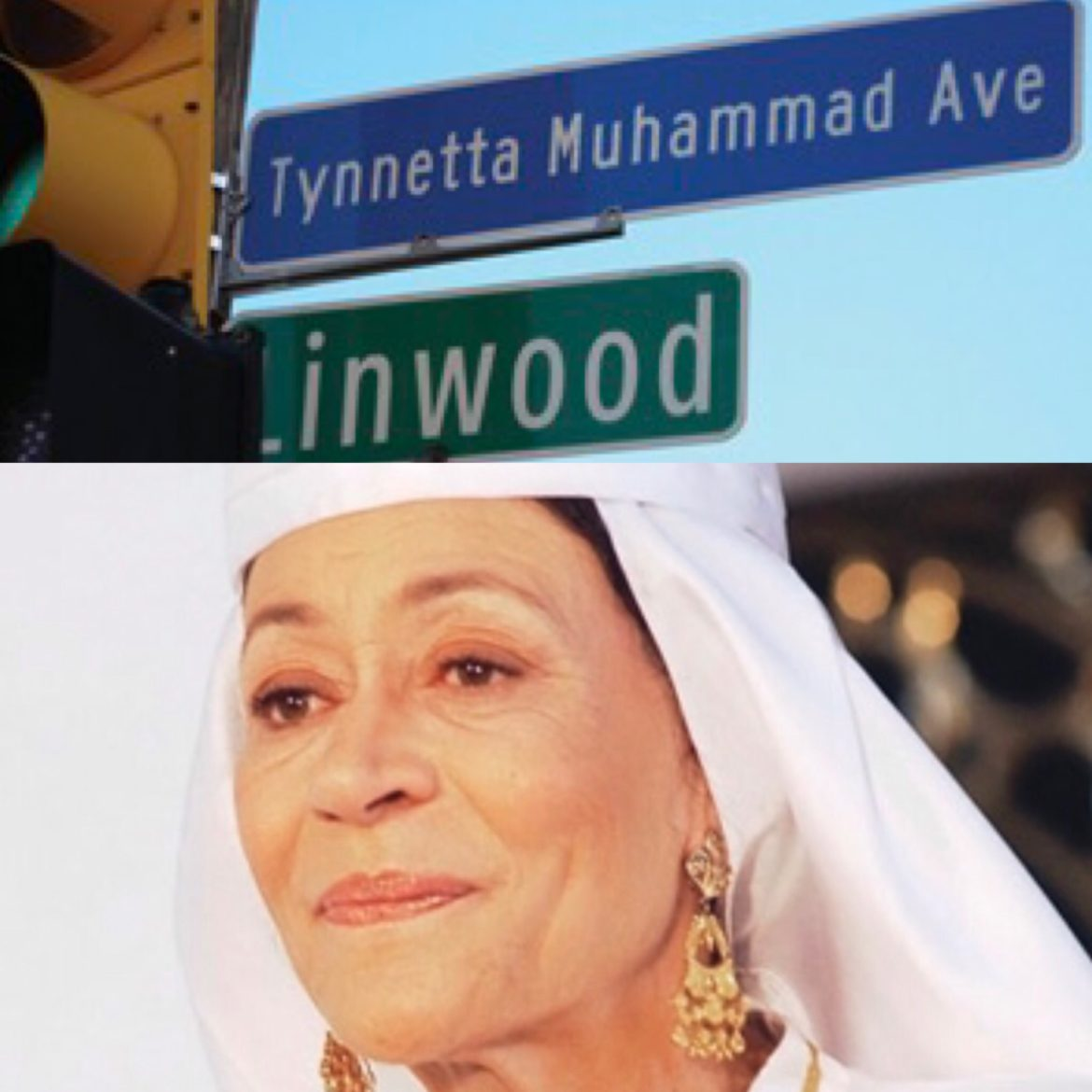 """Tynnetta Muhammad Avenue,"" named in tribute to writer, artist and scholar Mother Tynnetta Muhammad"