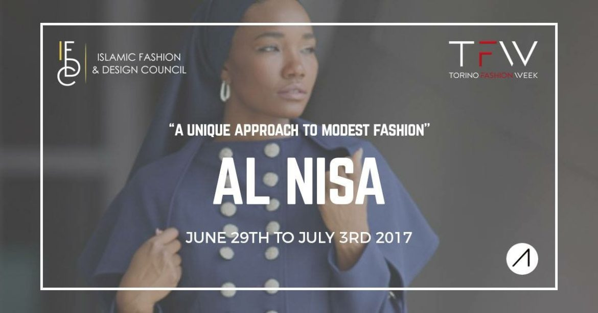 PRESS RELEASE:: Muslim Designer Carmin Muhammad debuts her Al Nisa Brand Designs at Torino Fashion Week in Italy!