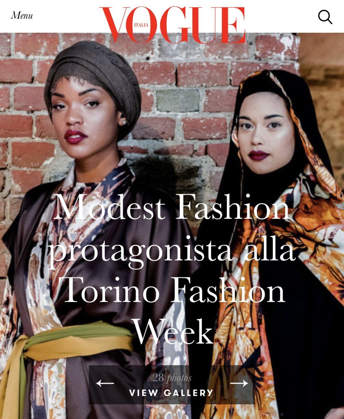 VOGUE Italia – Modest Fashion At Torino Fashion Week