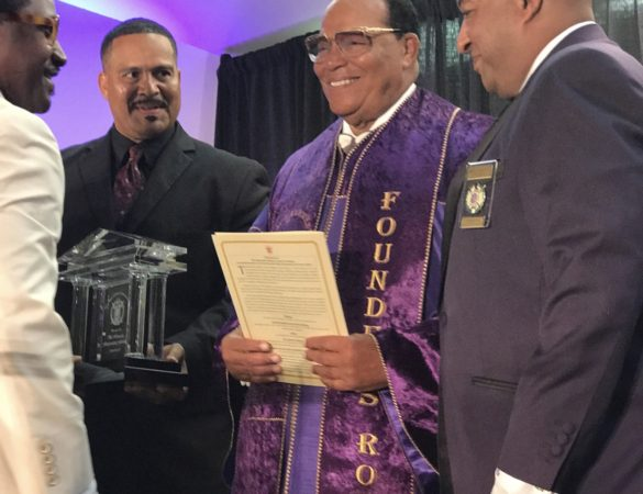 Omega Psi Phi Honors Minister Farrakhan with Lifetime Achievement Award