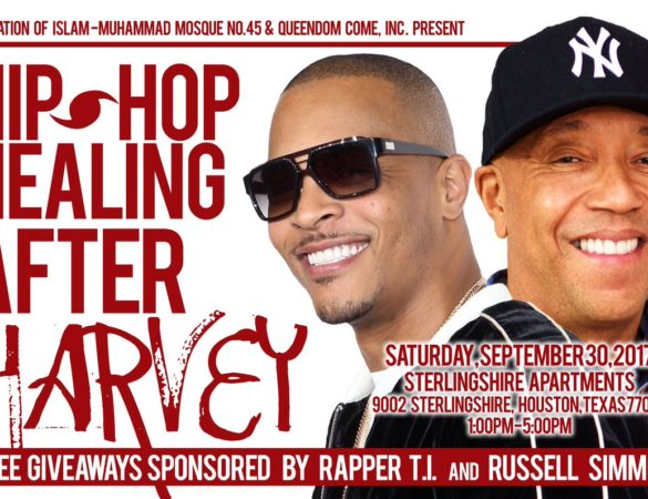 SATURDAY:: Hip Hop Healing After Harvey Sponsored by T.I. & Russell Simmons