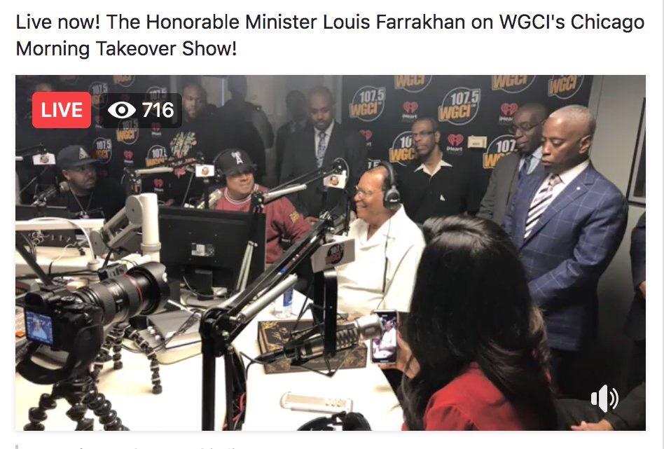"""REPLAY:: The Honorable Minister Louis Farrakhan on The Chicago Morning Takeover Show to discuss his new album """"Let's Change The World"""""""