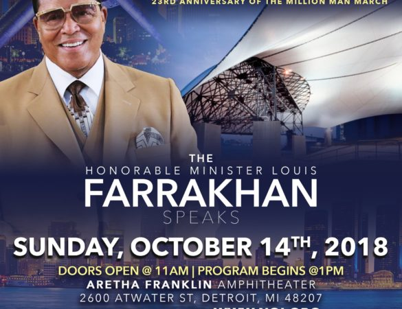 Detroit Welcomes Minister Farrakhan And Nation Of Islam For The 23rd Anniversary of Million Man March